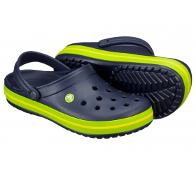 Crocs Crocband granat / zielony (Navy Volt Green Lemon)