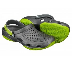 Crocs Swiftwater Deck Graphite/Volt Green (grafitowy szary)