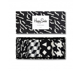 Happy Socks 4pack Gift Box Black / White XBLW09-9001