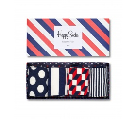 Happy Socks 4pack Stripe Socks Gift Box XBDO09-6000