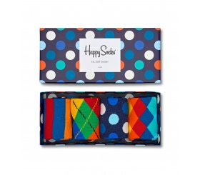 Happy Socks 4pack Mix Socks Gift Box XMIX09-6000