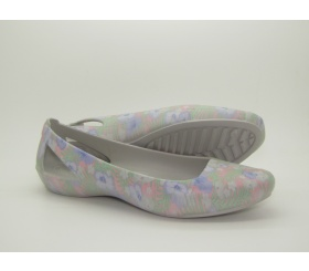 Baleriny Crocs Sienna Graphic Flat Light Pink / Floral