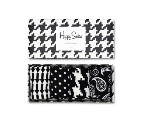 Happy Socks 4pack Gift Box Black / White XBLW09-9000