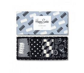 Happy Socks 4pack Gift Box Black / White XOPT09-9000