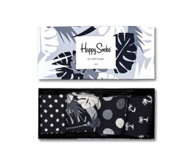 Happy Socks 4pack Gift Box Black / White XBLW09-9002