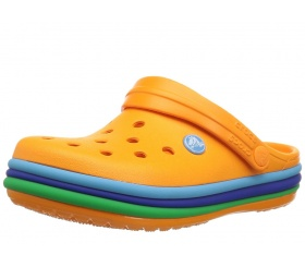Crocs Crocband Rainbow Band Blazing Orange (pomarańczowe)